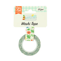 Echo Park - Summertime Decorative Tape, 15mmx9m, Summer Flowers