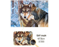 Collection D'Art - Wolf couple (K)(N), Timanttimaalaus, 48x38cm