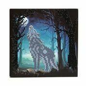 Craft Buddy - Howling Wolf (O)(P), Timanttityökortti, 18x18cm