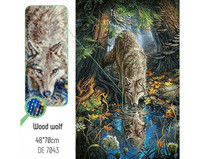 Collection D'Art - Wood wolf (K)(N), Timanttimaalaus, 48x70cm