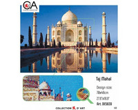 Collection D'Art - Taj Mahal (K)(N), Timanttimaalaus, 70x48cm