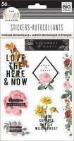MAMBI - Happy Planner, Vintage Botanical, Tarrasetti, 5 arkkia