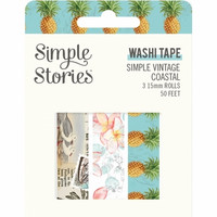 Simple Stories - Simple Vintage Coastal, Washi Tape, 3 rullaa