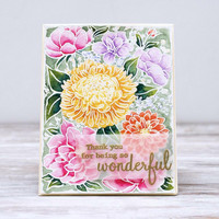 Pinkfresh Studio - Flower Garden, Leimasetti