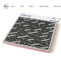 Pinkfresh Studio - Cling Rubber Stamp, Diagonal Bars