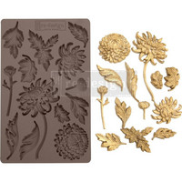 Prima Marketing - Re-Design Mould,  Botanist Floral, Silikonimuotti