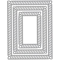 Spellbinders - Stanssisetti, Elegant Twist Rectangles