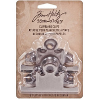 Tim Holtz - Idea-Ology Metal Clipboard, Antique Nickel, 2 kpl