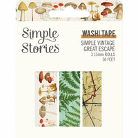 Simple Stories - Simple Vintage Great Escape, Washi Tape, 3 rullaa