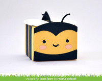 Lawn Fawn - Tiny Gift Box Bee Add-on, Stanssisetti
