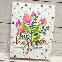 Pinkfresh Studio - Modern Layered Floral, Leimasetti