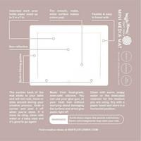 Waffle Flower - Mini Media Mat, White, Vesivärityöalusta