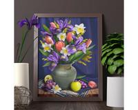 ArtMosfa - Daffodils And Irises (K)(N), Timanttimaalaus, 30x40cm