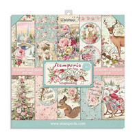 Stamperia - Pink Christmas, Paper Pack 8