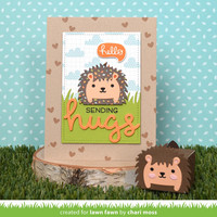Lawn Fawn - Tiny Gift Box Hedgehog Add-on, Stanssisetti