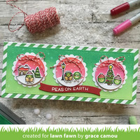Lawn Fawn - Scalloped Circle Gift Tag, Stanssisetti