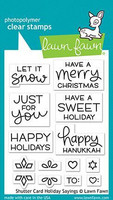 Lawn Fawn - Shutter Card Holiday Sayings, Leimasetti