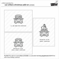 Lawn Fawn - Car Critters Christmas Add-on, Leimasetti