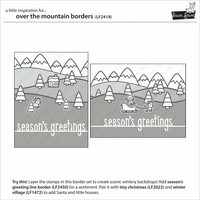 Lawn Fawn - Over the Mountain Borders, Leimasetti