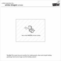 Lawn Fawn - Winter Dragon, Leimasetti