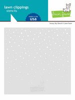 Lawn Fawn - Snowy Sky Stencil, Sapluuna