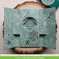 Lawn Fawn - Snowflake Trio Stencil, Sapluuna