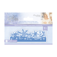 Crafter`s Companion - Sara Signature Collection Glittering Snowflakes, Stanssi, Joyful Snowflakes