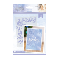 Crafter`s Companion - Sara Signature Collection Glittering Snowflakes, Kohokuviointitasku, Touch of Winter