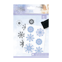 Crafter`s Companion - Sara Signature Collection Glittering Snowflakes, Leimasetti, Frosted Layers