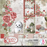 Ciao Bella - Frozen Roses, Double-Sided Paper Pad 12