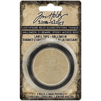 Tim Holtz - Idea-ology Label Tape, Halloween, 2 rullaa