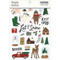 Simple Stories - Winter Cottage, Tarrasetti, 12 arkkia