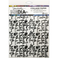Dina Wakley Media - Collage Tissue Paper, Just Words, 20 arkkia