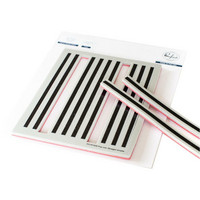 Pinkfresh Studio - Cling Rubber Stamp, Pop-Out Straight Stripes, Leimasetti