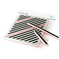 Pinkfresh Studio - Cling Rubber Stamp, Pop-Out Diagonal Stripes, Leimasetti