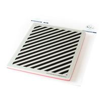 Pinkfresh Studio - Cling Rubber Stamp, Pop-Out Diagonal Stripes, Leimasetti
