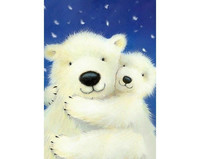 Collection D'Art - White Bears (K)(N), Timanttimaalaus, 19x27cm