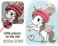Collection D'Art - Little Unicorn On The Rink (K)(N), Timanttimaalaus, 19x27cm