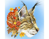 Collection D'Art - Lynx (K)(N), Timanttimaalaus, 38x38cm