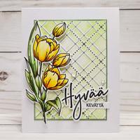 Waffle Flower - Tulips, Leima- ja stanssisetti