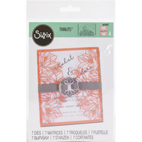 Sizzix - Thinlits Dies, Stanssisetti, Floral Wrap