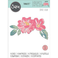 Sizzix -Thinlits Dies By Sophie Guilar, Stanssisetti, Floral Layers