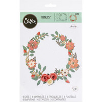 Sizzix -Thinlits Dies By Olivia Rose, Stanssisetti, Wedding Wreath