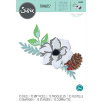 Sizzix -Thinlits Dies By Lisa Jones, Stanssisetti, Layered Winter Flower