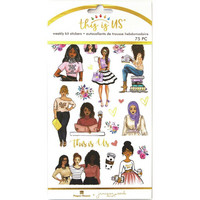 Paper House - This Is Us Weekly Planner Sticker Kit, Be You Tiful, Tarrasetti