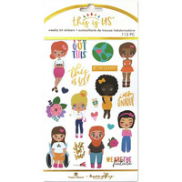 Paper House - This Is Us Weekly Planner Sticker Kit, Just Be You, Tarrasetti