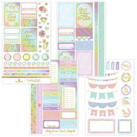 Paper House - This Is Us Weekly Planner Sticker Kit, Pastel Self Care, Tarrasetti