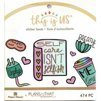 Paper House - This Is Us Mini Sticker Book, Pastel Self Care, Tarrasetti