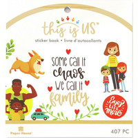 Paper House - This Is Us Mini Sticker Book, Family Life, Tarrasetti