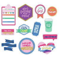 Paper House - This Is Us Diecut Stickers, Bright Self Care, 48 osaa